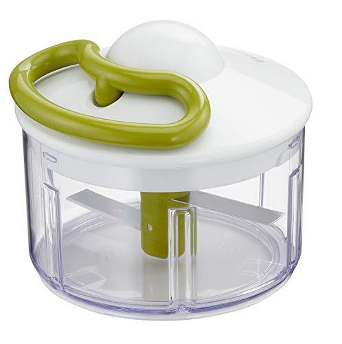 Tefal 5-Sekunden Zerkleinerer K13304   Ohne Strom   Fassungsvermögen: 500 ml   Multizerkleinerer für Gemüse, Obst, Zwiebeln, Nüsse, Knoblauch, Babynahrung   Weiß/ Grün