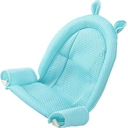 Baby Badewanneneinsatz Sitz, Neugeborene Dusche Mesh Neugeborene Dusche Mesh für Badewanne verstellbar bequeme Badewannen, bequeme Badewannen Anti-Rutsch Sitzfläche für Infant 0–3 Jahren