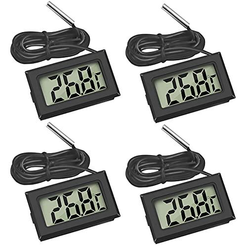 Thlevel Digital LCD Thermometer Temperatur Monitor mit Externem Sensor für Kühlschrank Gefrierschrank Kühlschrank Aquarium