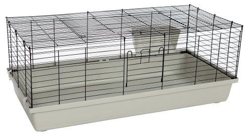 PETGARD Kaninchen- und Meerschweinchenheim SAMMY 120 schwarz-lichtgrau