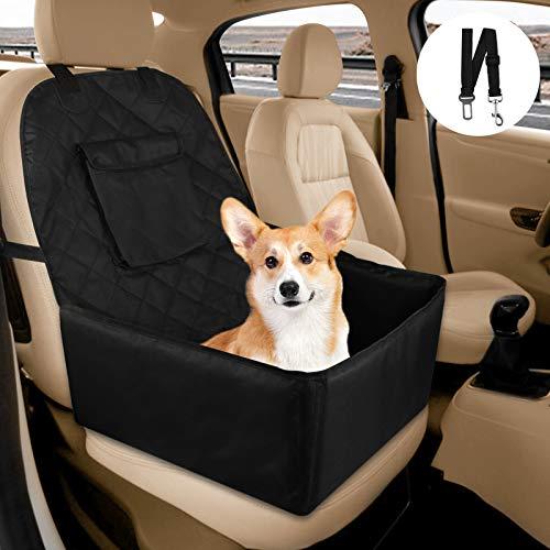 synmixx Hunde Autositz, Wasserdicht Reißfest Auto Hundesitz Vordersitz mit Hundesicherheitsgurt Hundesitz Autositzbezug mit Aufbewahrungstasche für Haustier Reise