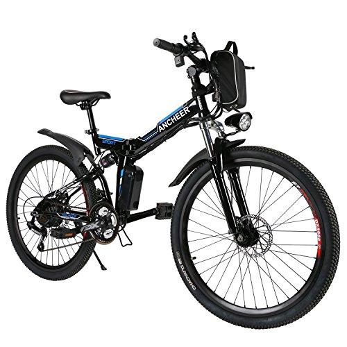 ANCHEER E-Bike Elektrofahrräder E Klapprad , 36V Akku, 26 '' faltbares Elektrofahrrad mit 250W Motor und 21 Gang-Schaltung, Pedelec für Herren und Damen