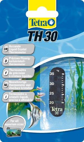 Tetra TH 30 Aquarienthermometer, präzises Flüssigkeitsthermometer zur Befestigung außen auf der Aquarienscheibe