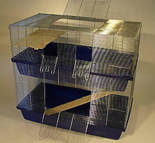 Heimtiercenter 1m6mm DOPPEL Hamsterkäfig Mäusekäfig Rattenkäfig Käfig