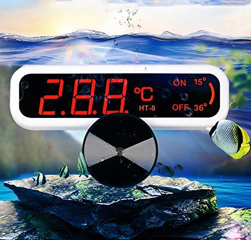 YDYG Aquarium-Thermometer LED Digital Wasserdicht Thermometer Mit Saugnapf-Fisch-Behälter Wassertemperatur Für Fische Wie Betta Goldfisch Tauchen Thermometer