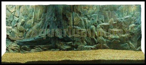 3D Aquarien Rückwand 150x60 Fels mit Wurzel 2TLG.