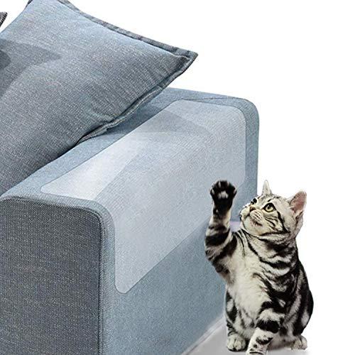 Jakarol Möbelschutz für Katzenmöbel, selbstklebend, Vinyl, Kratzschutz, verhindert Kratzen, Sofa, Wände, Autositz, 4 Stück