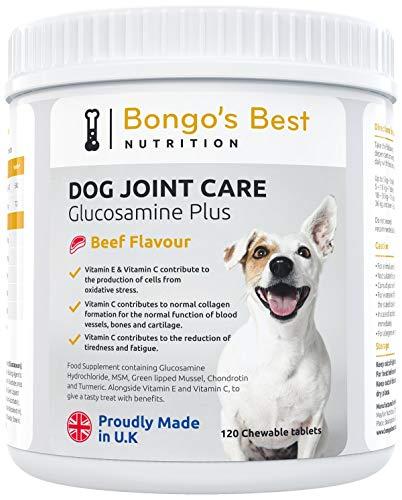 """Mayfair Nutrition Gelenktabletten für Hunde von """"Bongo's Best"""" – Gegen Gelenkentzündungen, Gelenkerkrankungen & Arthrose bei Hunden 120 Tabletten (Glucosamin HCL, Grünschalmuschel, Chondroitin)"""
