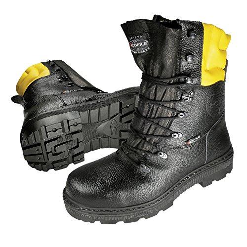 Cofra Schnittschutzstiefel Woodsman 25580-000, Forstarbeiter Sicherheitsstiefel, Größe 43, 40-87890000-43