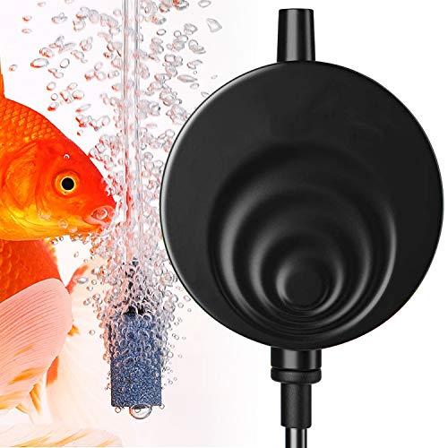 Zaleonline Aquarium Luftpumpe Sauerstoffpumpe für Aquarium Superleise Mini Aquarienluftpumpen Energie-Sparende 1W mit Luftsteine Luftschlauch Rückschlagventil Saugnapf für Fisch Tank Aquarium