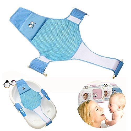 Proca Baby-Badewannensitz für Neugeborene, Babys, Stütznetz für Badewanne, Schlinge für Dusche, Netz, Badeschlaufe (blau)