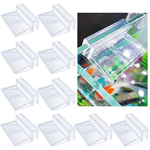 Chudian 10 Stück Glasabdeckungs-Clips für Aquarien, Acryl Aquarium Glasabdeckung Halter Aquarium Abdeckung Halterung Unterstützung