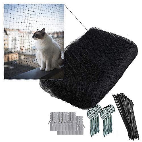 NEEZ XL Katzennetz für Balkon & Fenster I Robustes Schutznetz inkl. Befestigungsset I Befestigung des Katzenschutznetz für Balkon ohne Bohren (2,3 x 10 Meter)