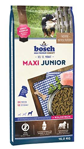 bosch HPC Maxi Junior | Hundetrockenfutter zur Aufzucht großer Rassen (ab 25 kg Endgewicht), 1 x 15 kg