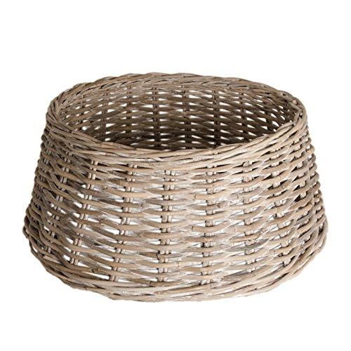 Mega C Zierkorb - Korb für Weihnachtsbaumständer oder Christbaumständer | Schöner Tree Basket im Shabby Chic Stil