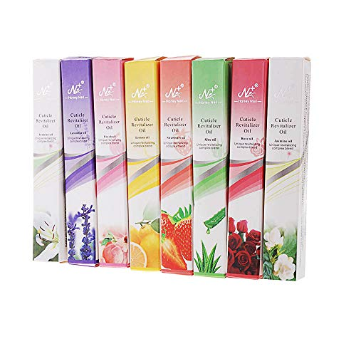 Nagelpflege-Ölstift, Anself 8tlg Nagelpflegeöl mit 8 Verschiedenen Geschmacksrichtungen