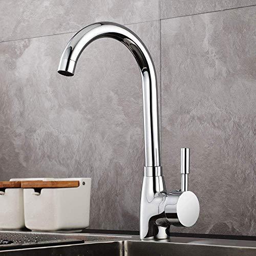 GAVAER Wasserhahn Küche,360° Drehbar Küchenarmatur, Geeignet für Spültischarmatur und Waschtischarmatur. Kaltes und Heißes Wasser Vorhanden, Messing Verchromt, Lebenslange Garantie.