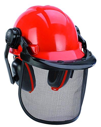 Original 4500480 Einhell Forstschutzhelm (52-66 cm Kopfumfang des Helmes, verstellbarer Gehörschutz)