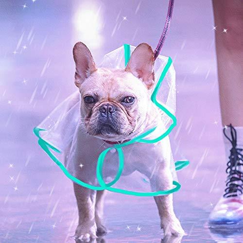 Hund Regenmantel,hunderegenmantel Regenjacken für Regenschutz kleine Hunde Regenjacke,hunderegenjacke(Grün,S)