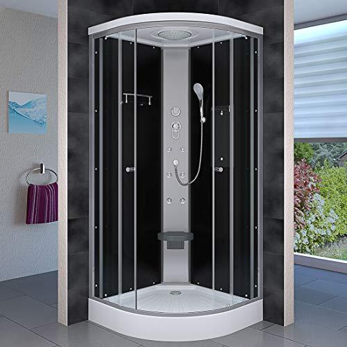 AcquaVapore DTP10-0300 Dusche Duschtempel Duschkabine Fertigdusche 80x80cm JA mit 2K Scheiben Versiegelung