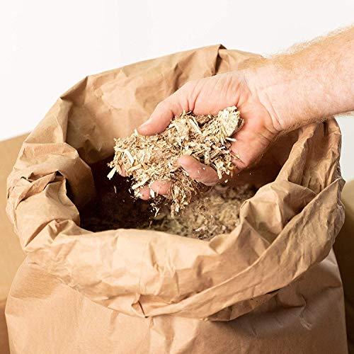 Jumbogras® Einstreu-Snips: gepresstes Kleintier Miscanthus-Stroh/Elefantengras-Streu für Käfig (5 kg Sack)