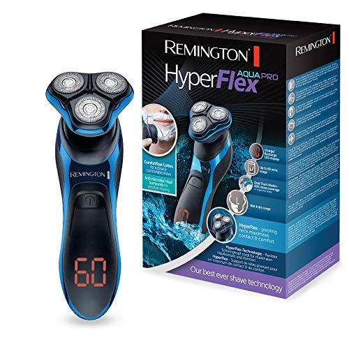 Remington Rotationsrasierer HyperFlex Aqua Pro XR1470, flexibler Schwingkopf, Turbo-Boost-Funktion, Nass- und Trockenanwendungen, schwarz/blau