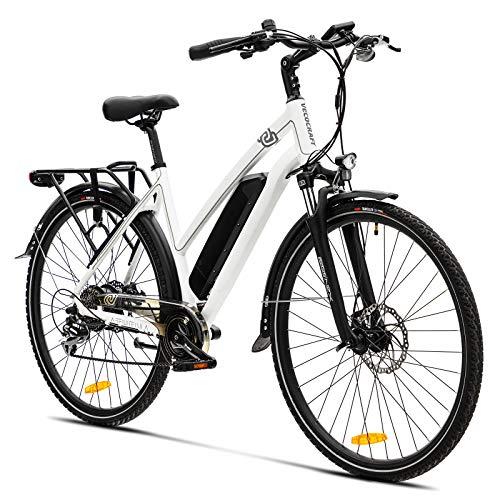 Elektrofahrrad E Bike VecoCraft Athena E-Bike Trekking Pedelec für Damen Herren, 28Zoll Urban Citybike, mit 36V 250W 13Ah Samsung Akku 25km/h 100km, Shimano 8-Gang Electric Bike