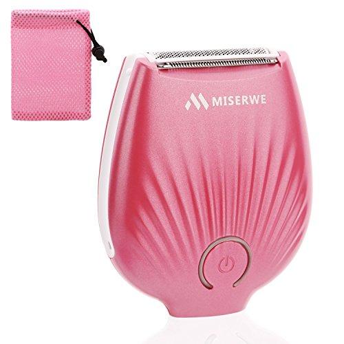 Miserwe Mini-Haarentfernung, IP4X, wasserdicht, wiederaufladbar, kabellos, für Nass- und Trockenrasierer und Bikini-Trimmer für Arm-, Unterarm-, Bikini- und Beinhaarentferner