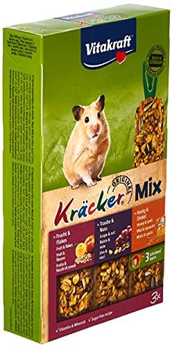 Vitakraft Nagersnack Hamster Kräcker Trio Honig,Nuss,Frucht, 1x 3St