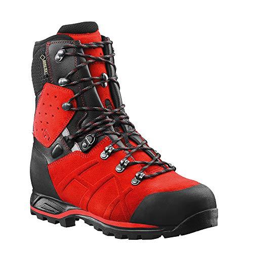 Haix Protector Ultra Signal Red Leder Forststiefel mit Stahlkappe erfüllt alle KWF Profi-Anforderungen. 44
