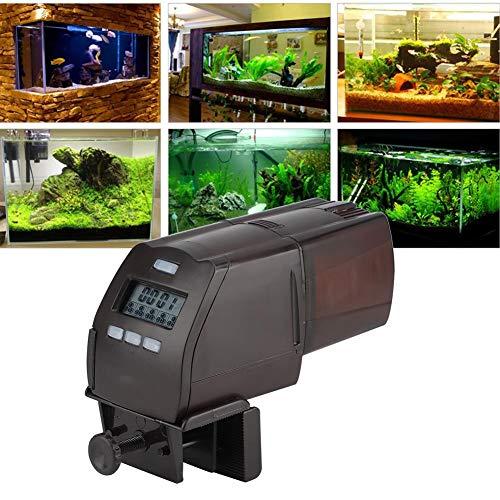 Denkerm Fischfutterspender, Intelligenter Urlaubsfutterautomat, Aquariumfutterautomat, Fischversorgung für die Fischfütterung mit Fixierclip Granulares Fleischfutter
