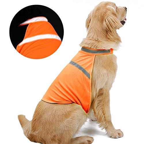 NIBESSER Hunde-Warnweste Hundejacke Reflektierende Hundeweste, reflektierende Hundejacke in verschiedenen Größen für alle Hunderassen
