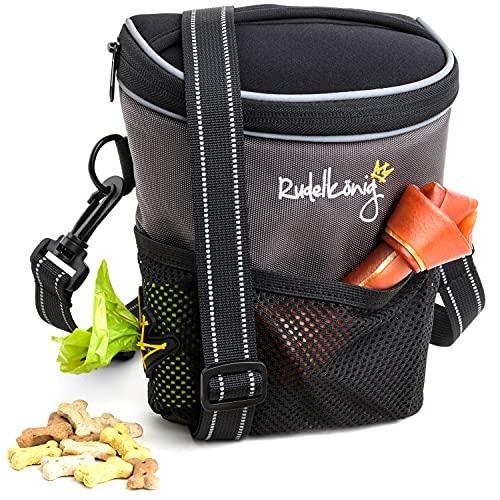 Rudelkönig Leckerlibeutel für Hunde - Praktische Futtertasche für das Hundetraining - Multifunktionaler Futterbeutel für Hunde mit Kotbeutelspender