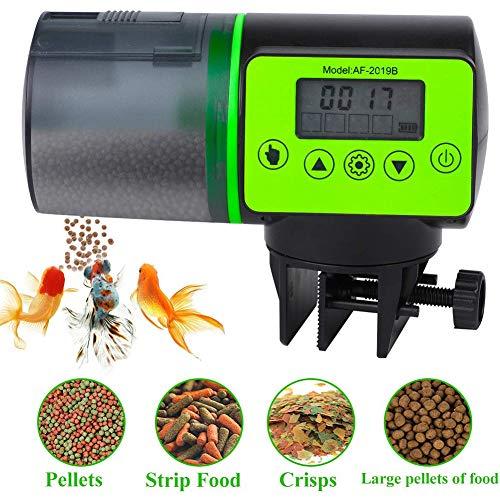 STKJ Automatischer Fischfutterautomat Automatischer Aquariumfutterautomat Mit 200 Ml LCD-Display Für Aquarienhaus Und Büro