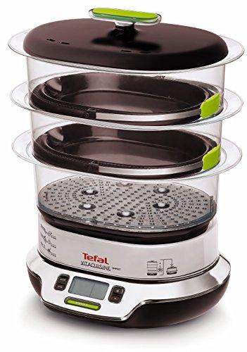 Tefal VS4003 Dampfgarer VitaCuisine Compact, ohne Mischen von Garsäften, compact 1800 W