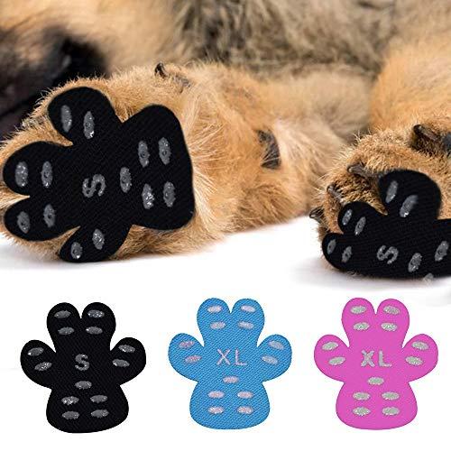 Fousamax Hundepfotenschutz, rutschfest, rutschfest, mit Griffen, Einweg, Selbstklebende Hundeschuhe für Hartholzböden
