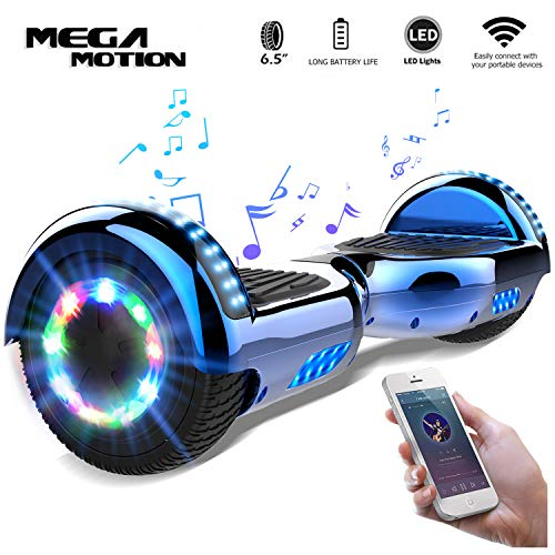 Mega Motion Self Balance Scooter 6,5' -2018 Elektro Scooter E-Skateboard- Scooter - UL zertifizierten 2272 LED - Räder mit LED Licht -Bluetooth Lautsprecher – 700W Motor