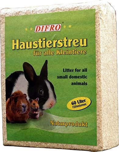 Difro Kleintierstreu 60 Liter Einstreu Holzspäne Kleintier Streu Nager Kaninchen Käfigstreu
