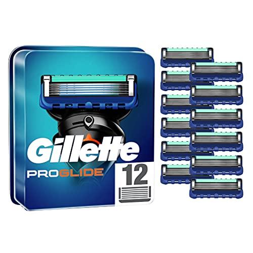 Gillette ProGlide Rasierklingen, 12 Ersatzklingen für Nassrasierer Herren mit 5-fach Klinge