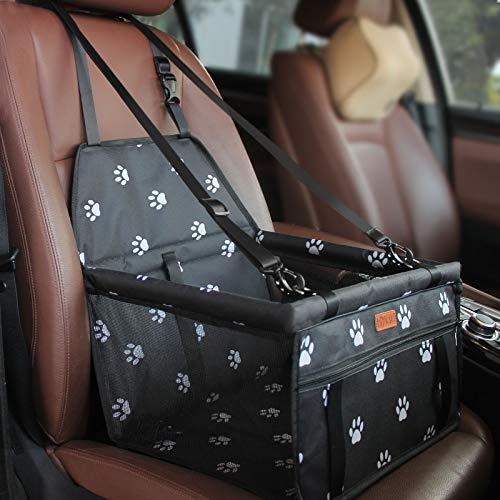 BYGD Hunde Autositz, Neu hochwertiger atmungsaktiver Faltbarer Hundesitz, Hundesitz-Reisetasche für die Vorder- und Rücksitze des Autos, Robust (40×30×25cm)
