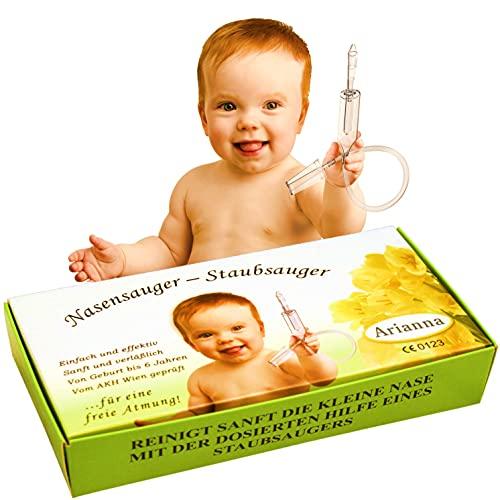 Nasensauger Baby. Das Original. Mit 2 Saugköpfen und Gratis Reinigungsbürste - klinisch getesteter Nasensauger Staubsauger - der sichere und sanfte Baby Nasensauger für jeden Staubsauger