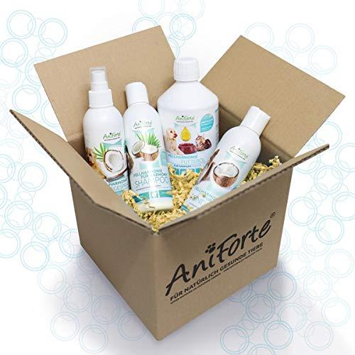 AniForte Fellharmonie Hundeshampoo mit Kokosöl & Aloe Vera 200ml – Pflegeshampoo für Hunde, Vitale Haut, Fellglanz, Kämmbarkeit, natürliche Inhaltsstoffe