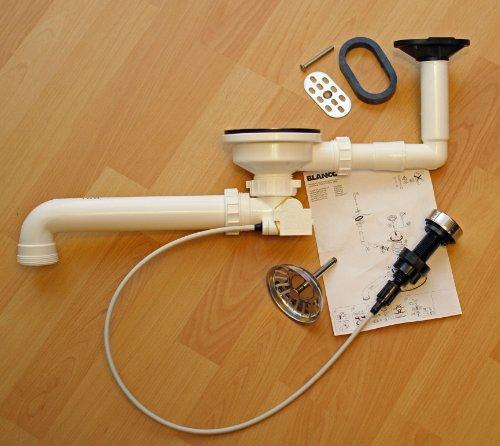 Blanco Ablaufgarnitur 3,5' mit Exzenterbedienung und Überlauf oval kpl.