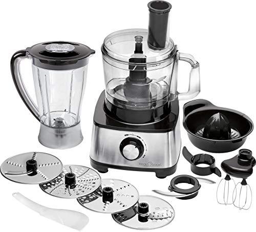 Profi Cook PC-KM 1063 Kompakt-Küchenmaschine m. Edelstahlgehäuse, schneiden kneten mixen, Zitruspresse-Aufsatz, 1.2L, Nachfüllöffnung, m. Turbofunktion inkl. 11 Zubehörteilen, 1200W