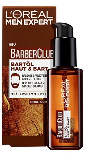 L'Oréal Men Expert Barber Club Bartöl, die Bartpflege mit Zedernholzöl sorgt für eine gepflegte Bartpracht sowie einen gebändigten Bartstil