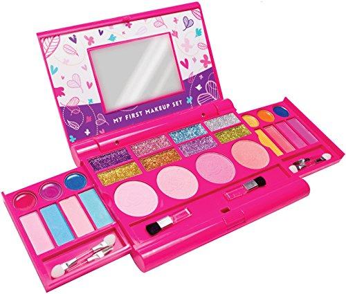 12.Mein erstes Makeup-Set, Mädchen Makeup-Set, ausklappbare Makeup-Palette mit Spiegel und sicherem Verschluss - sicherheitsgeprüft - ungiftig (Originales Design)