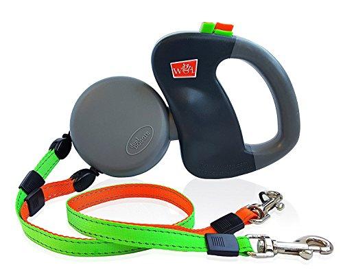 Wigzi - Authentic - USA patentiert - Dual Doggie Reflective Retractable Pet Leash - 360 Zero Tangle Design - Zwei Hunde je bis zu 50 lbs - Garantie