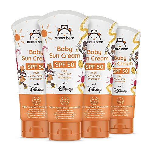 Mama Bear - Disney - Baby-Sonnencreme LSF 50 (hoher UVA/UVB-Schutz) - 4-er Pack x 100 ml