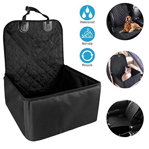 Hunde Autositz, Zaeel Hund Autositz Wasserdichtes Breathable Haustier-Autositz mit Sicherheits-Leine, Tragbare Reise-Auto-Fördermaschine-Tasche für Haustier(18*18*22 Inch)