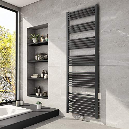 Meykoers Badheizkörper 1800x600mm Mittelanschluss 1348 Watt Anthrazit, Handtuchtrockner Handtuchwärmer Heizkörper für Bad Heizung